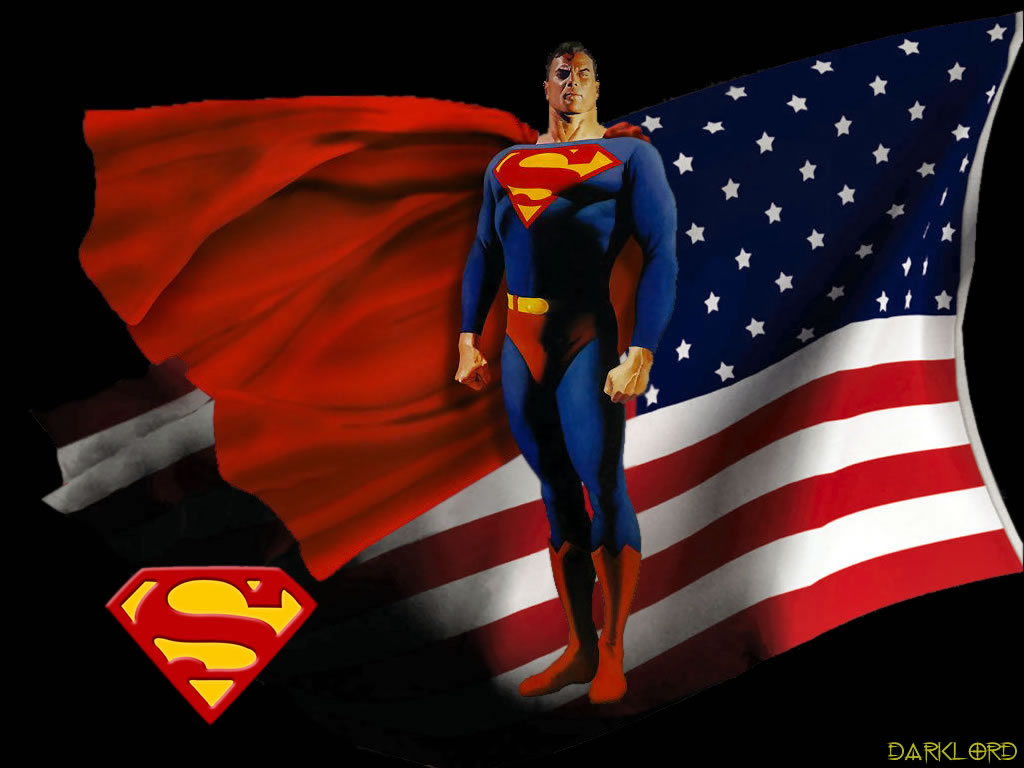 3d american flag wallpaper wallpapersafari - Superman screensaver ...