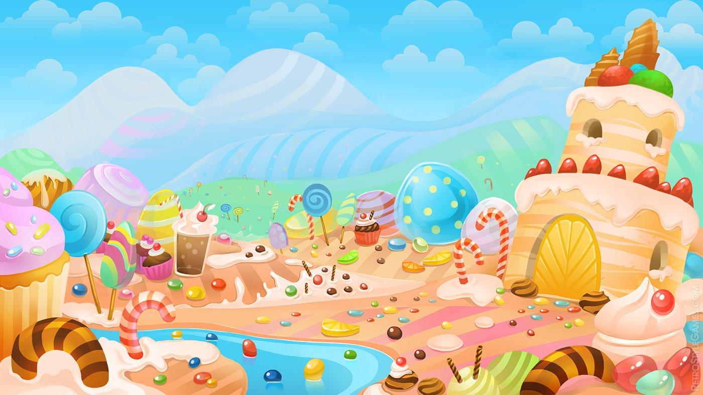 Christmas Candyland Backdrop.75 Candyland Background On Wallpapersafari