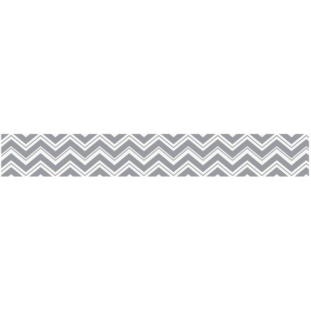 Zig Zag Black and Gray Wallpaper Border by Sweet Jojo Designs 630x630
