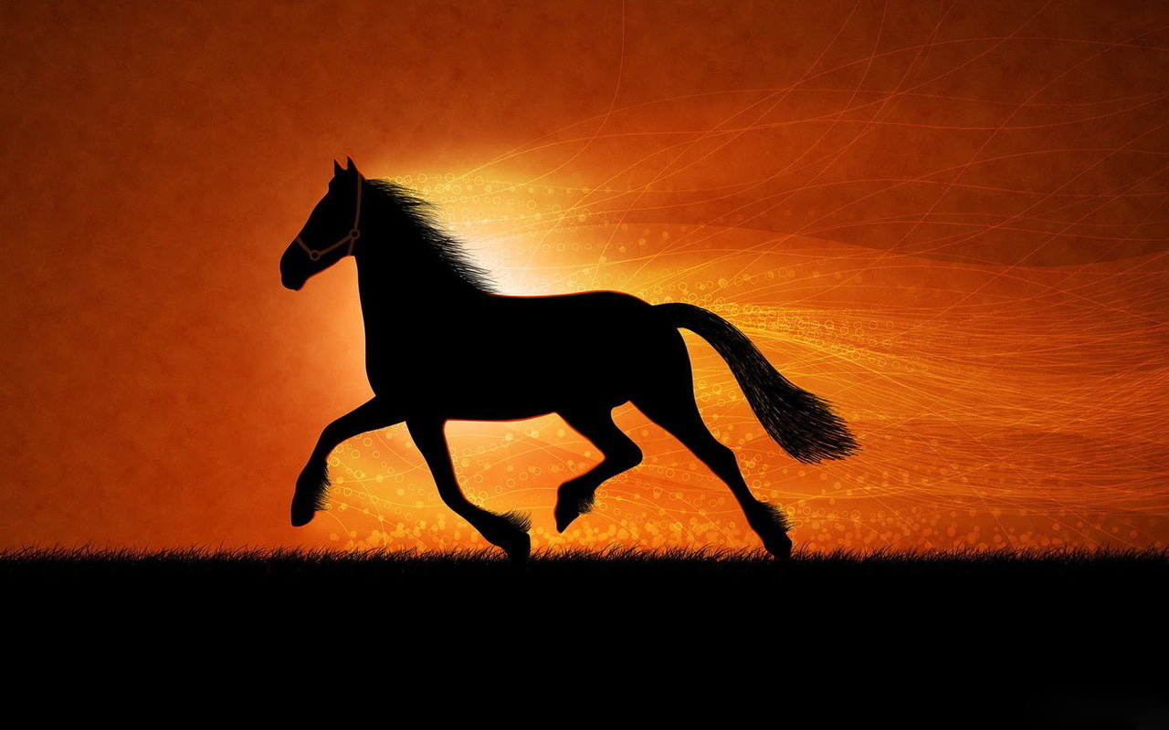 Free Download Backgrounds Computers Windows 7 Running Horses