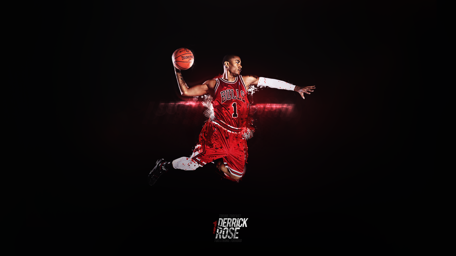 Derrick Rose Dunk Wallpaper Basketball Wallpaperspng 1600x900