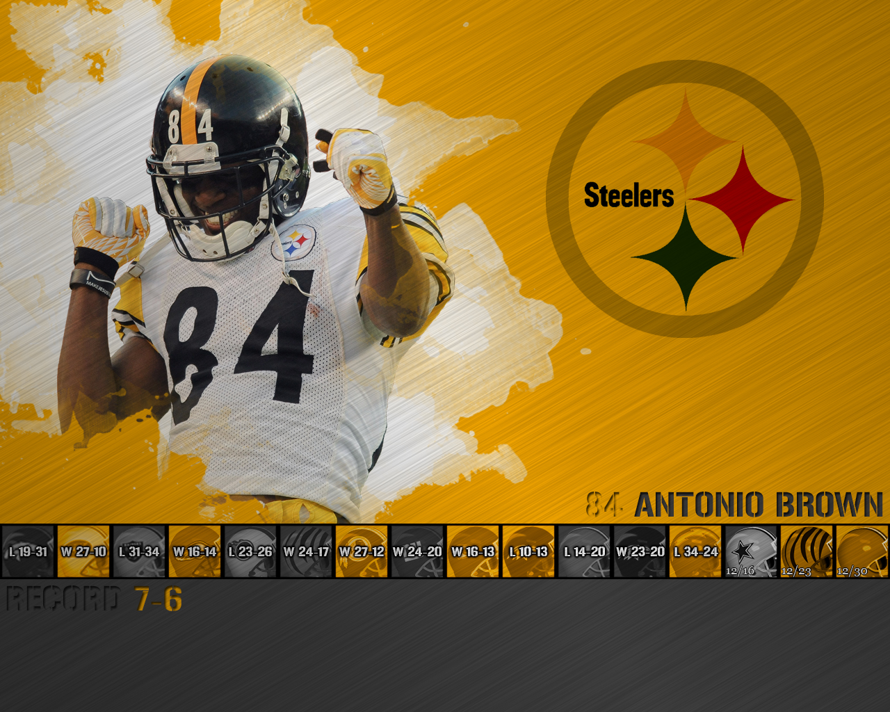 Antonio Brown 2012 Wallpaper 1280x1024