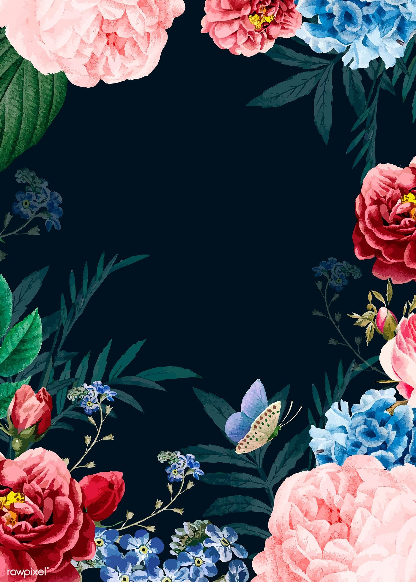 Download premium vector of Blooming elegant floral background 1400x1959