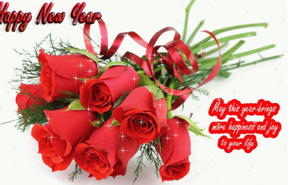 Happy New Year 2020 Red Rose Romantic Love Wallpaper Hd 1920x1080 1280x768