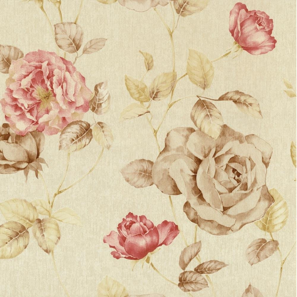 47 Antique Floral Wallpaper On Wallpapersafari