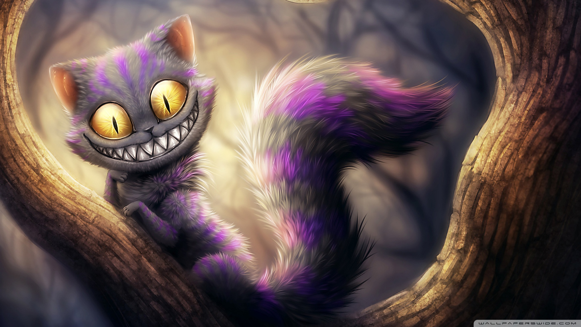 Cat Alices Adventures In Wonderland Wallpaper 1920x1080 Cheshire Cat 1920x1080