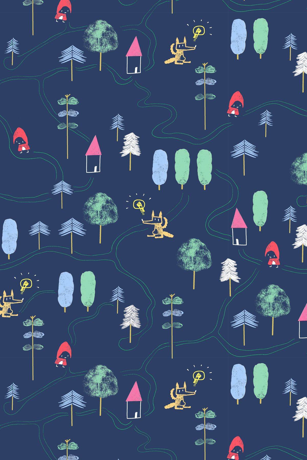 What about a playable wallpaper for your kids room Red Riding 1200x1800