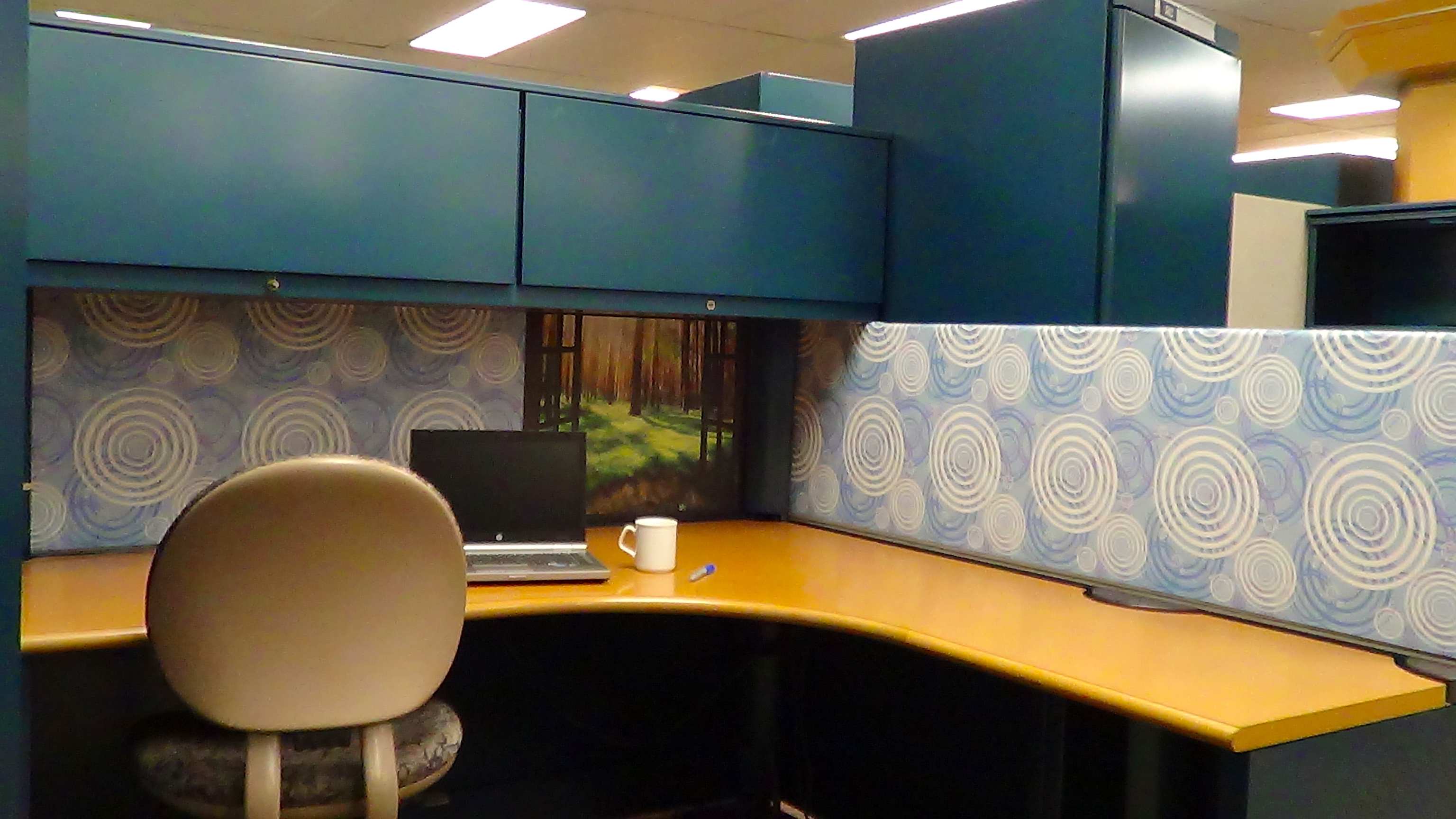 Cubicle wallpaper wallpapersafari for Design your office online