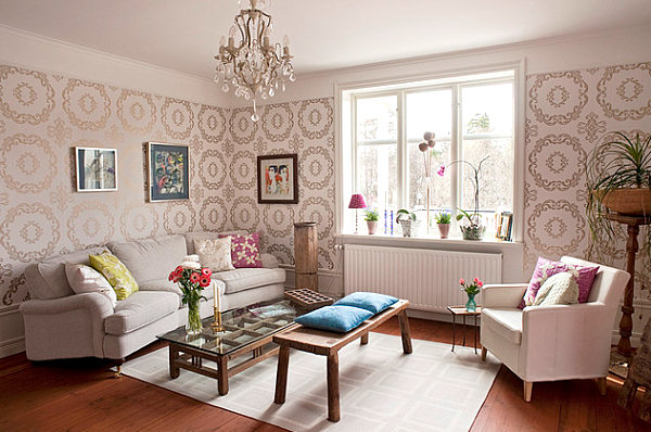 20 Eye Catching Wallpapered Rooms 600x398