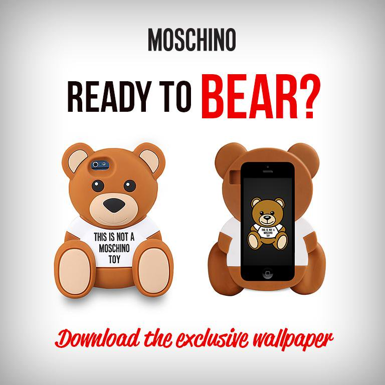 Moschino on Twitter Are you readytobear Download the esclusive 768x768