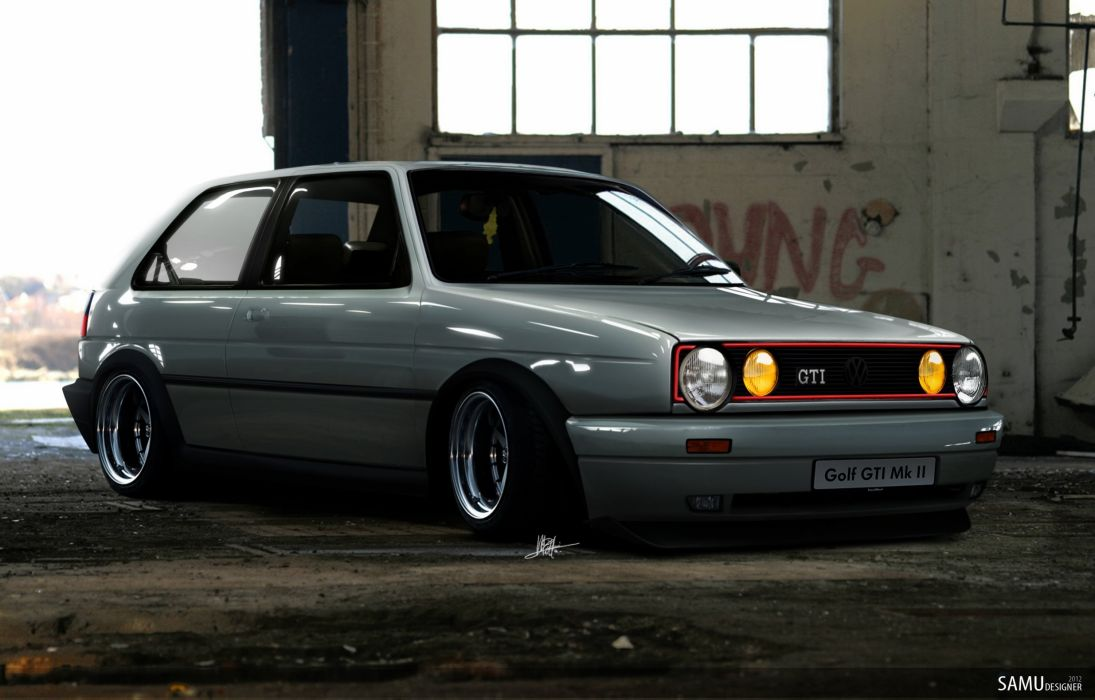 Golf MK2 GTI Euro wallpaper 2469x1579 564024 WallpaperUP 1095x700