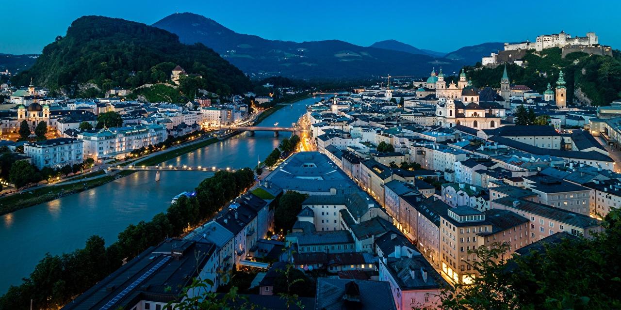 Wallpapers Salzburg Austria Evening Cities Building 1280x640