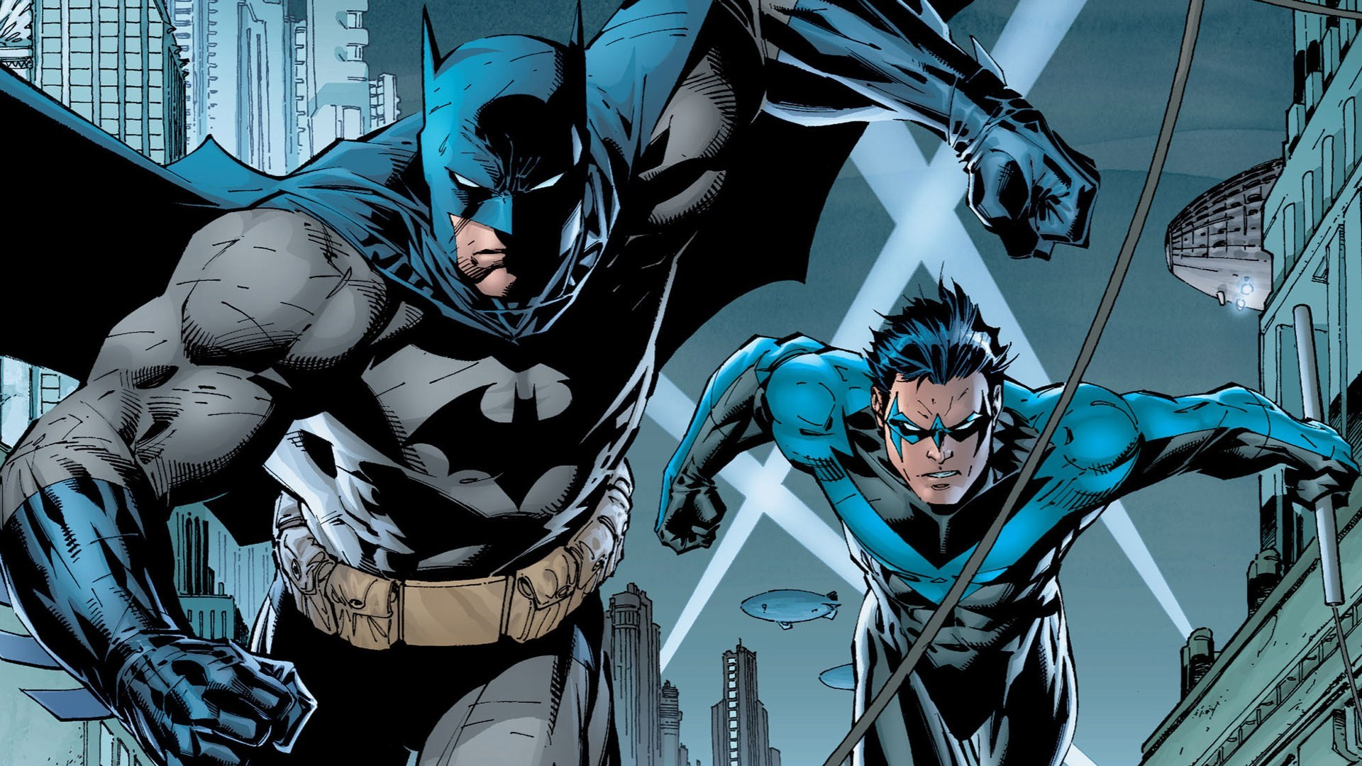 Art Batman DC Jim Lee Nightwing Dick Grayson HD Wallpaper 1920x1080
