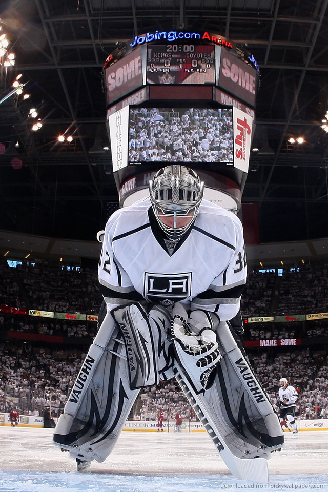 Download Los Angeles Kings Jonathan Quick Wallpaper For IPhone 4 640x960