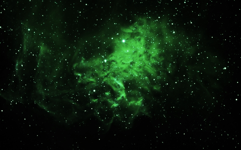 green high resolution nebula wallpaper - photo #3