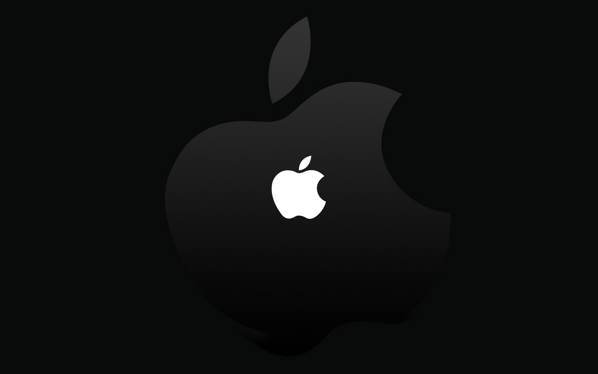 Black and White Apple Wallpaper 1920x1200