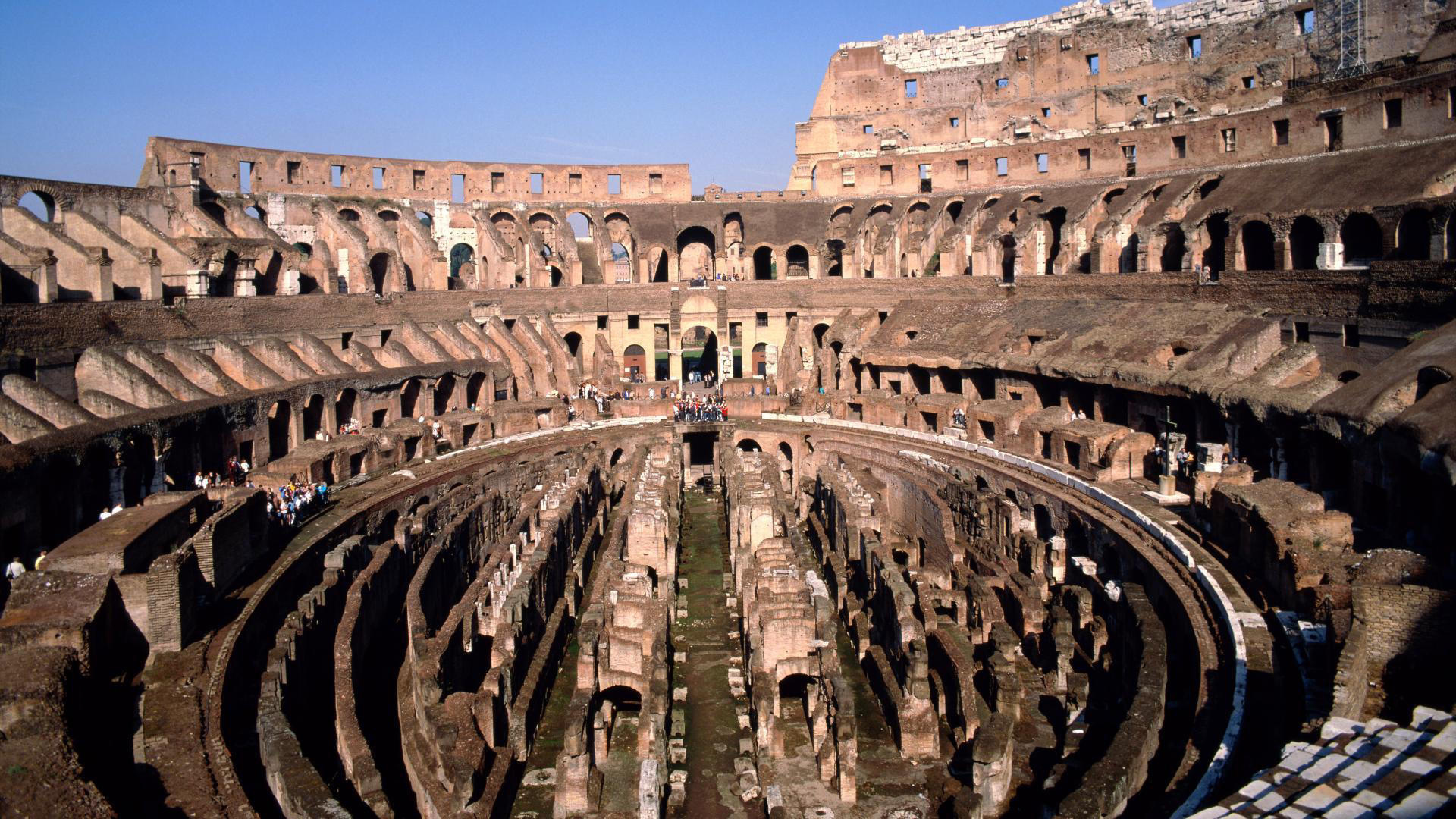 Desktop wallpapers World Italy Inside the Coliseum in Rome 1920x1080