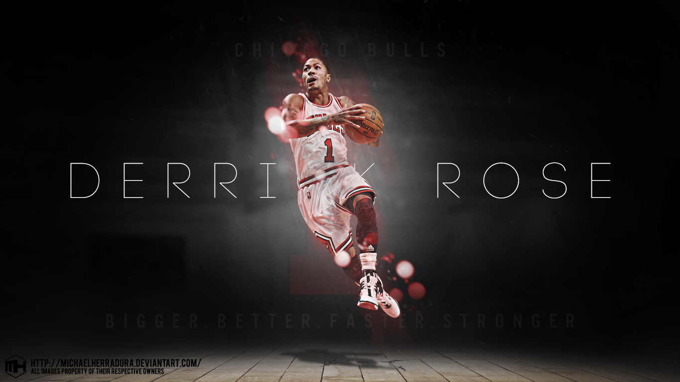 wallpaper movies tv 2013 2015 michaelherradura derrick rose wallpaper 1366x768