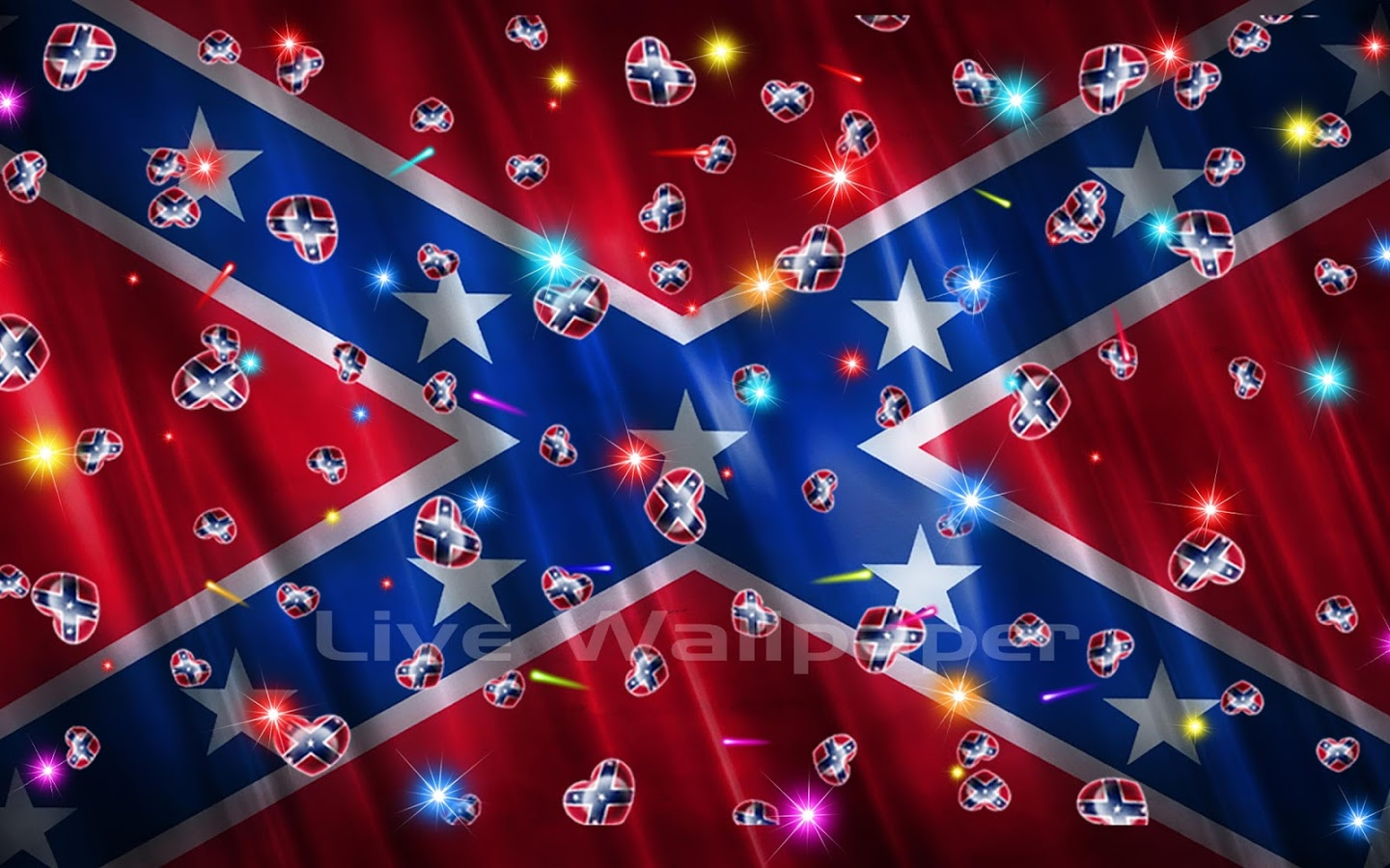 Rebel Flag Heart   screenshot 1440x900