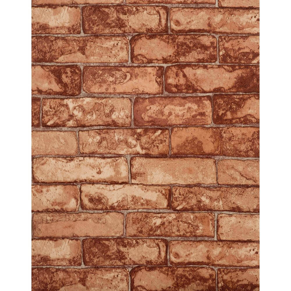 Features Unpasted   Washable   Strippable Rustic Brick RN1031 1000x1000