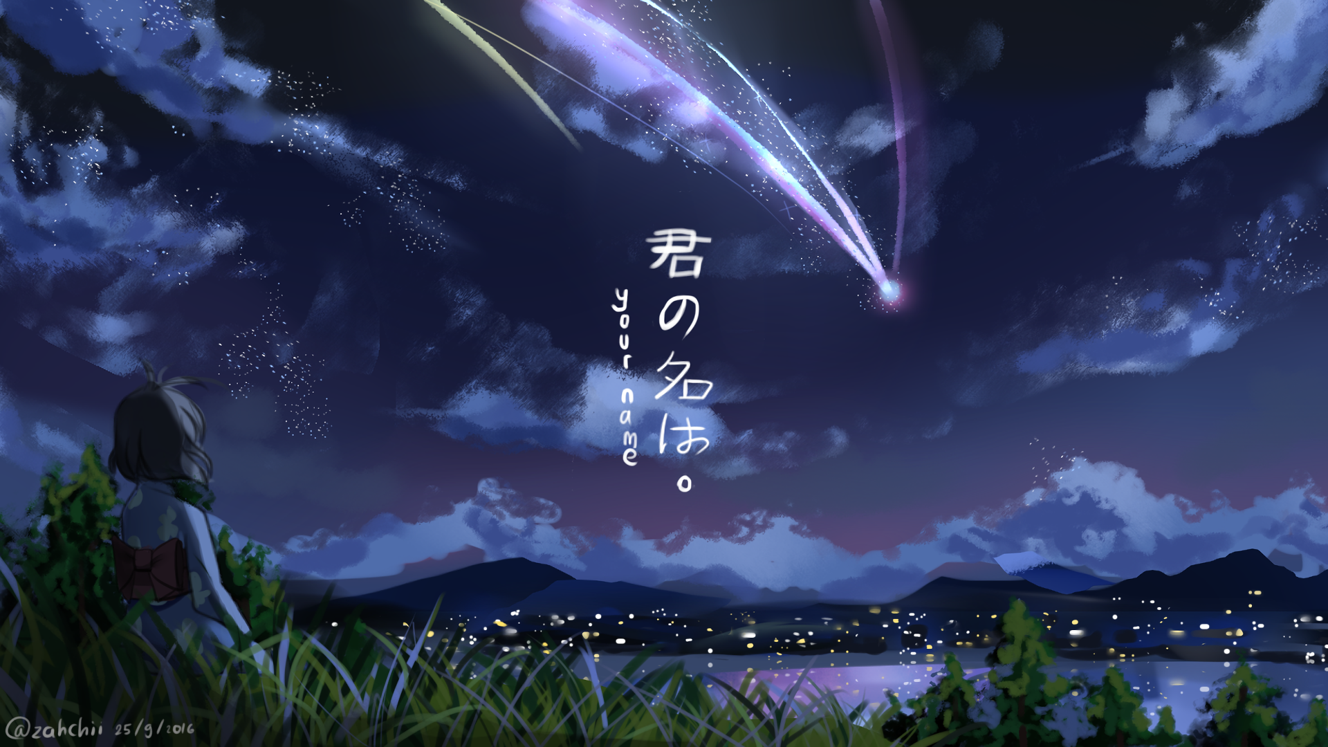 Makoto Shinkai Kimi No Na Wa Wallpaper Full HD Download 1920x1080
