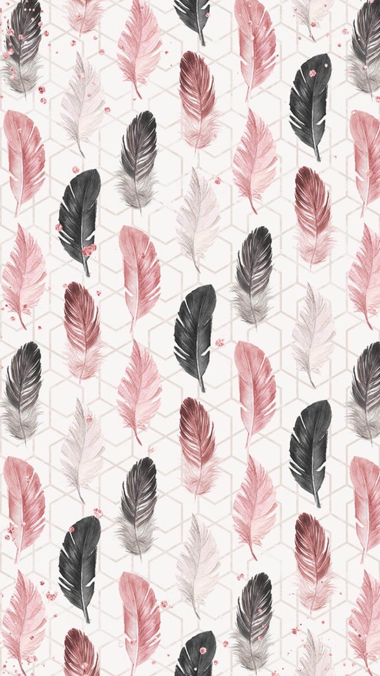 Wallpaper LockScreen Black and Pink Wallpapers Wallpaper 1242x2208