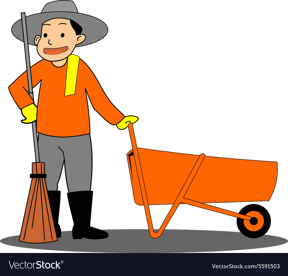 Road sweeper on white background Royalty Vector Image 1000x959