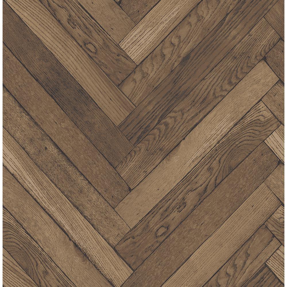 Brewster 564 sq ft Altadena Brown Diagonal Wood Wallpaper 2767 1000x1000
