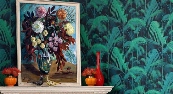 online wallpaper home decor cole and son palm jungle leaves 550x300