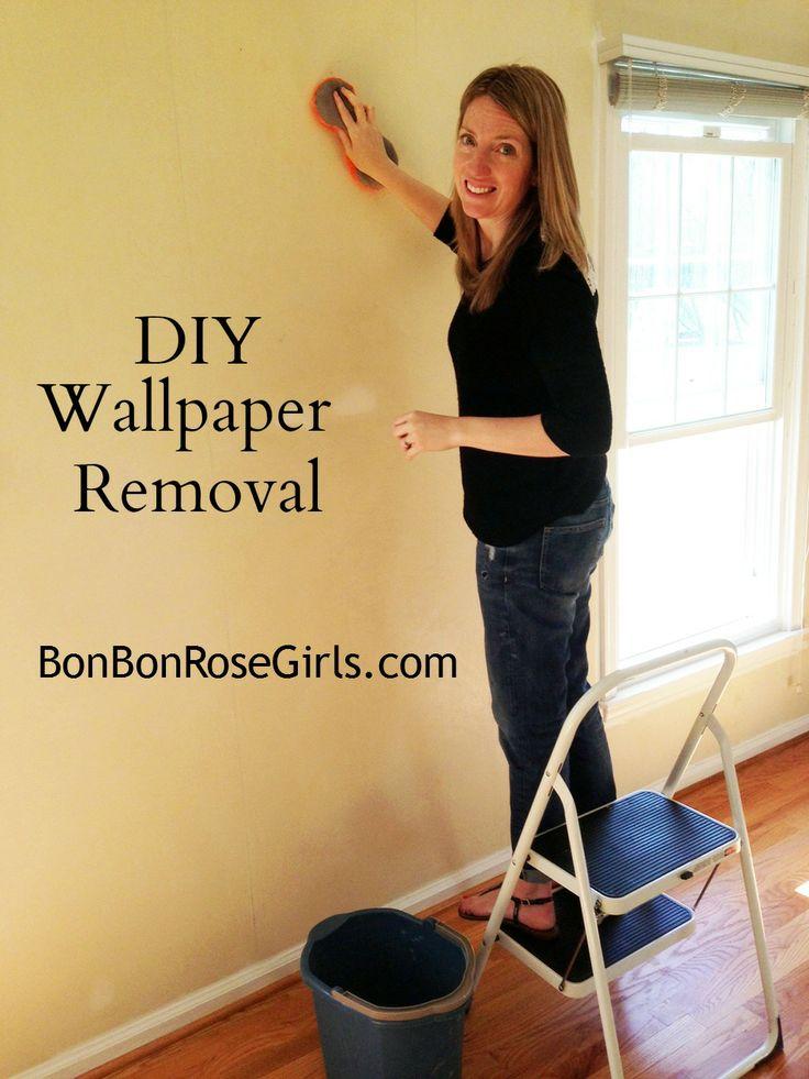 DIY wallpaper removal   bonbonrosegirlscom 736x981