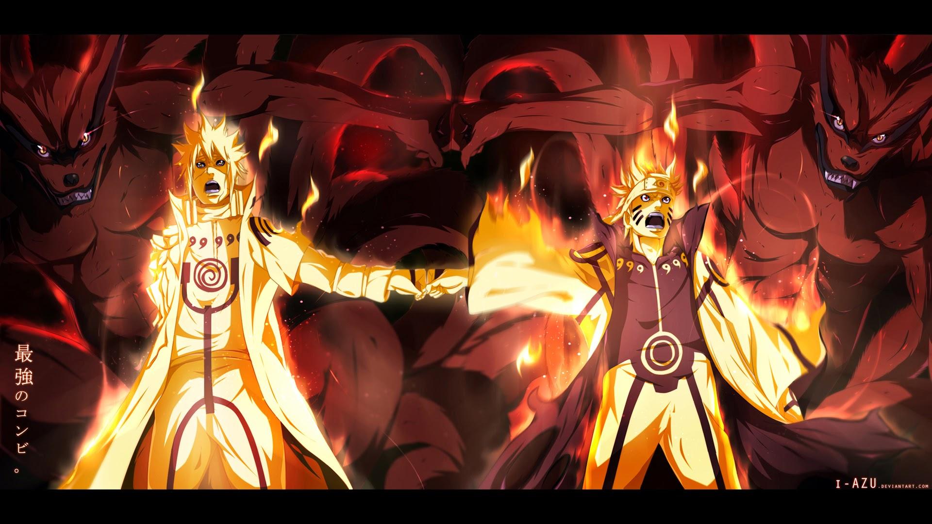 Minatao and Naruto Kyuubi 02 Wallpaper HD 1920x1080