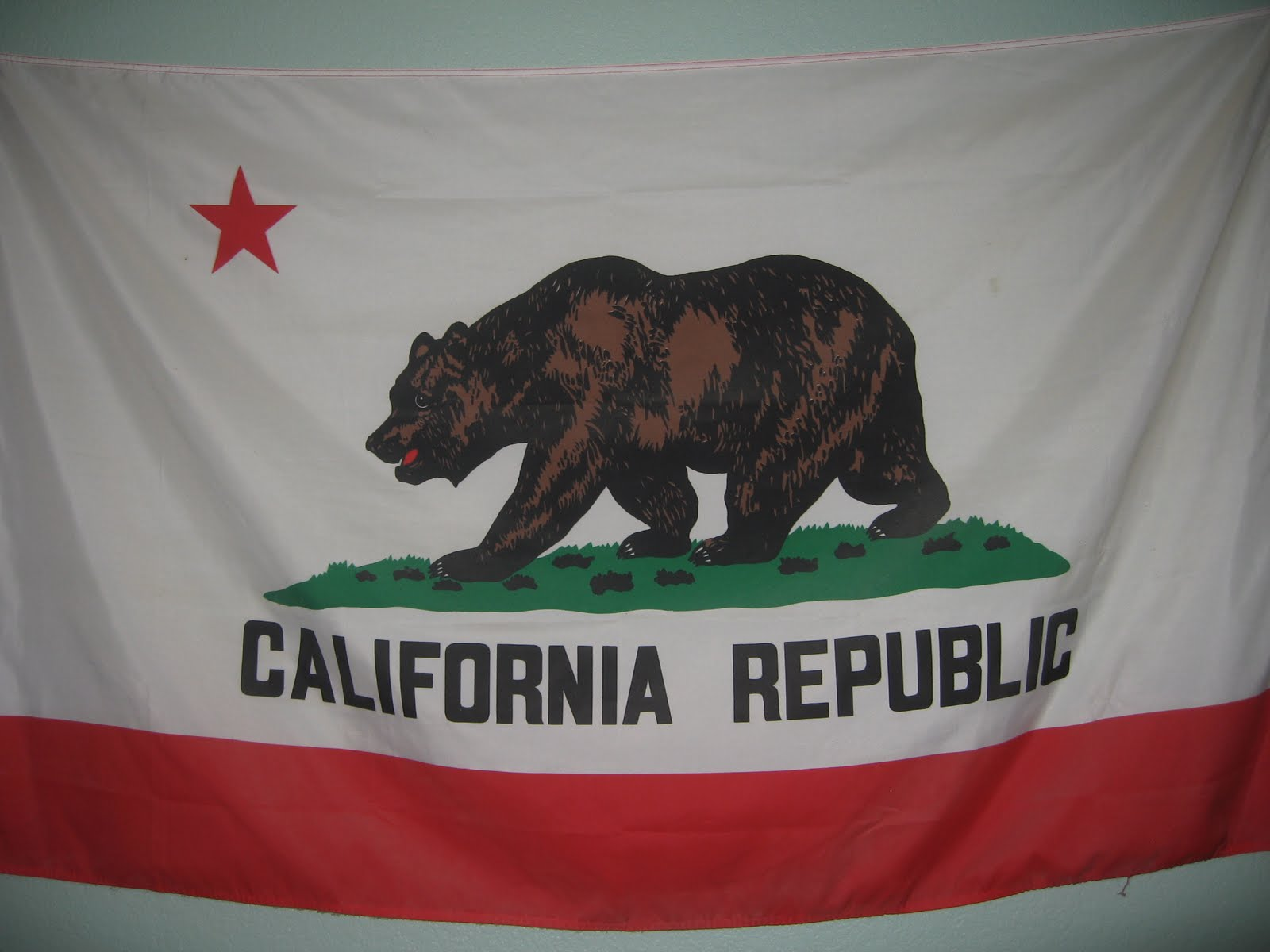 Official California State Flag Wallpaper 1600x1200
