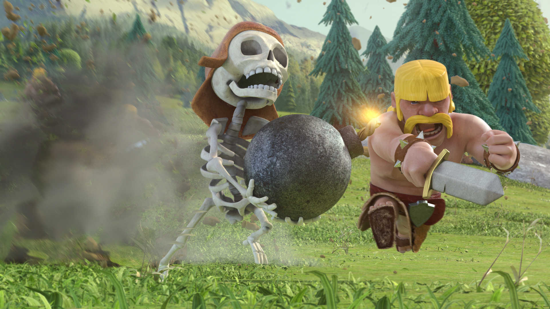 Clash Of Clans HD Background 1920x1080