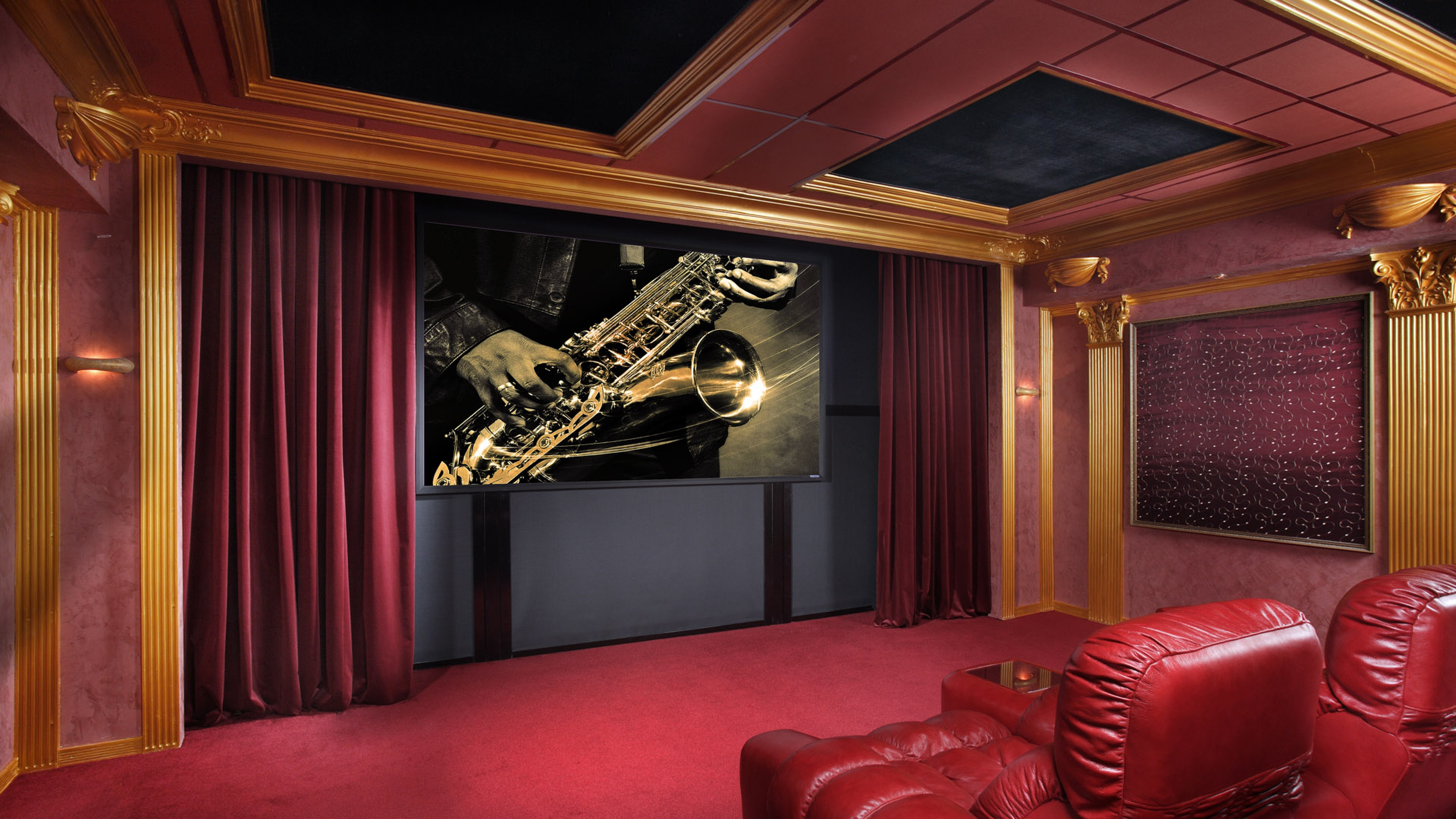 Theater Room Wallpaper Wallpapersafari