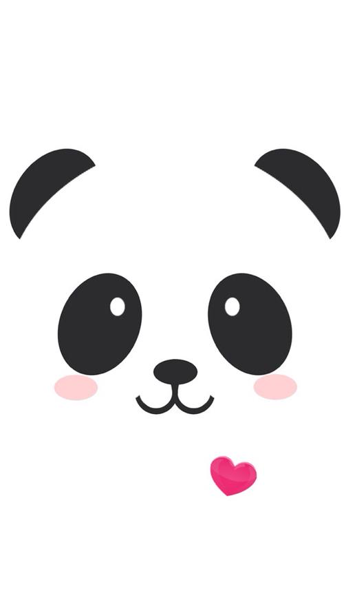 Panda wallpaper for iPhone 5 We Heart It 500x887