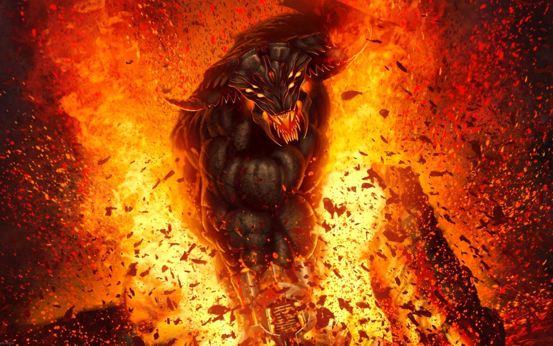 Dark horror fantasy fire demon hell evil art wallpaper 1920x1200 1920x1200