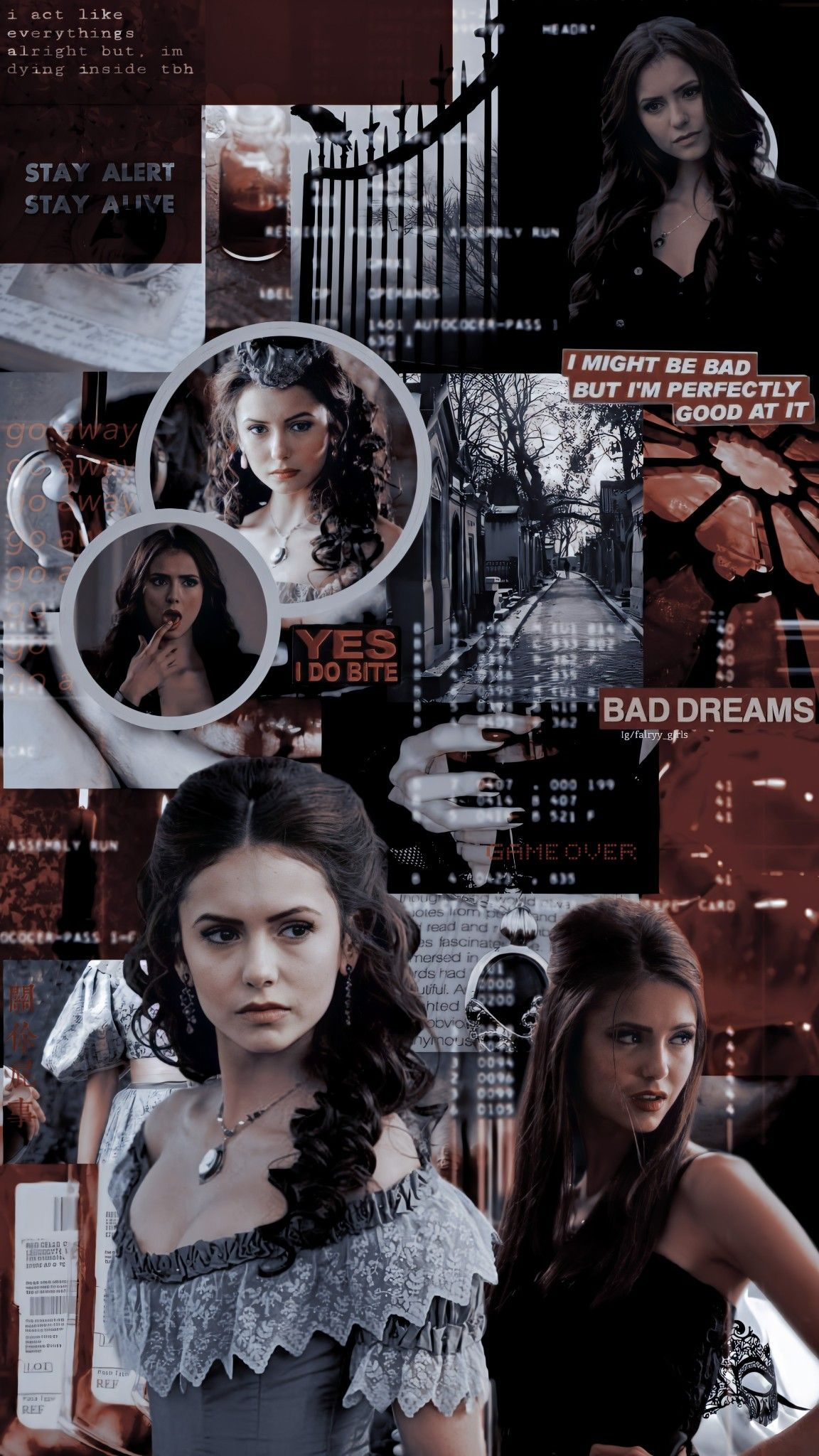 Katherine pierce lockscreen TVD The vampire diaries Paul 1152x2048