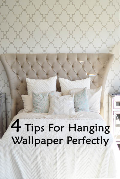 Tips for hanging wallpaper perfectly 400x597