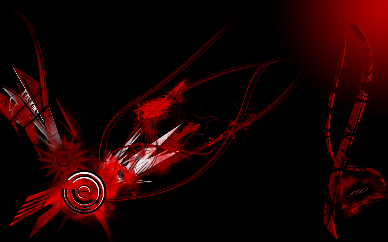 red black wallpaper widescreen by ecco666 customization wallpaper hdtv 1280x800