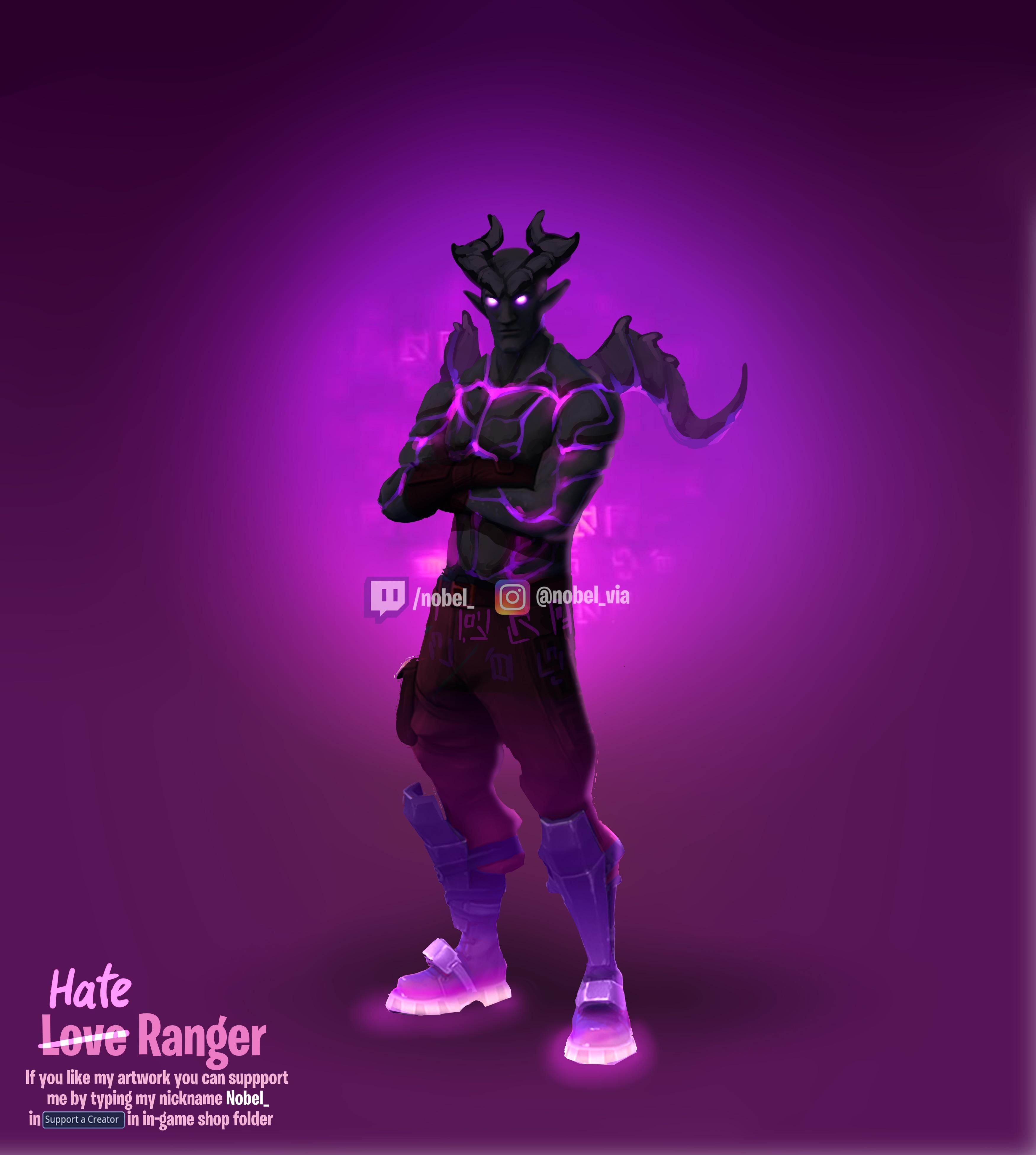 Skin Concept   Love Ranger dark counterpart   Hate Ranger FortNiteBR 3500x3900