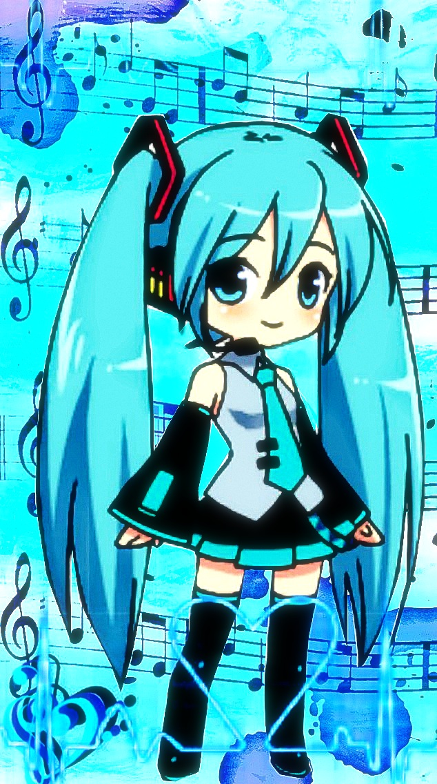 Hatsune Miku Phone Wallpaper - WallpaperSafari Hatsune Miku Chibi Wallpaper