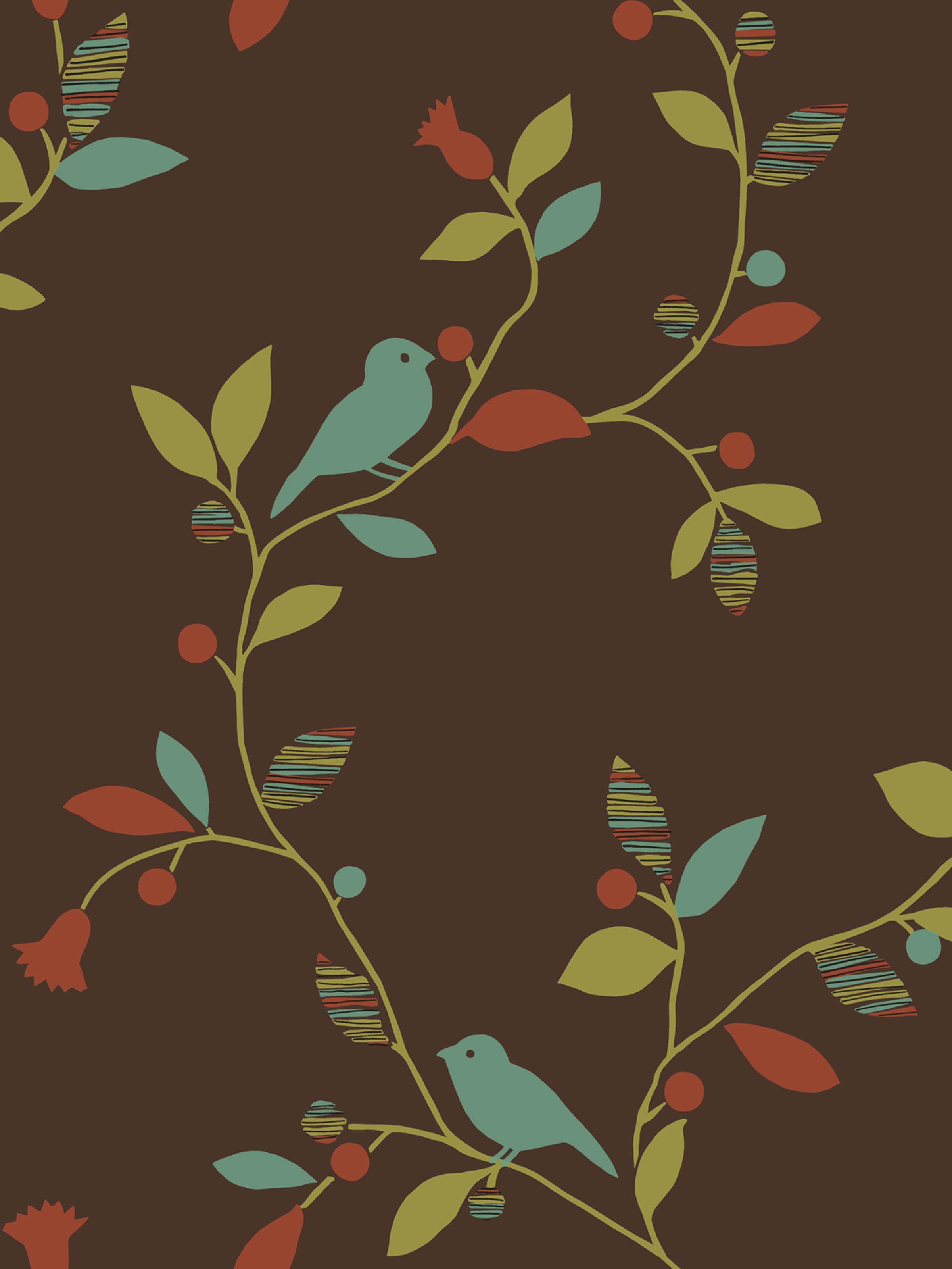 Wallpaper Bird Design 2400x3198