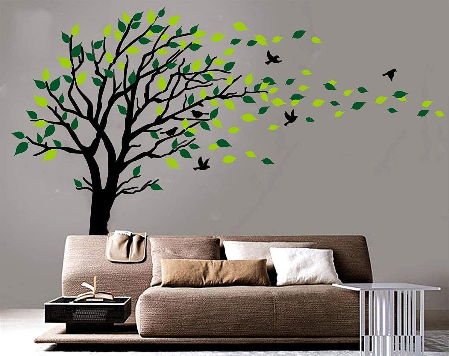 Amazoncom Large Tree Blowing in The Wind Tree Wall Decals Wall 1500x1187