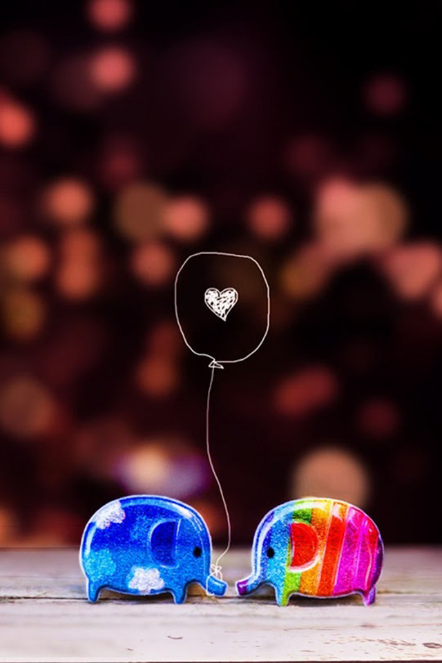 Small fresh love cartoon cell phone wallpapers 640x960 hd 640x960