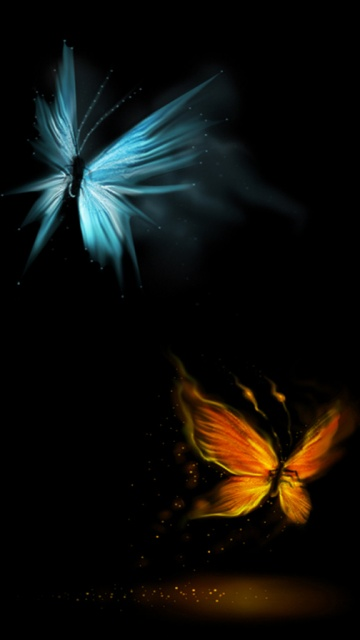 Samsung Omnia HD Wallpapers i8910 Icon 360x640 Butterflies 360x640