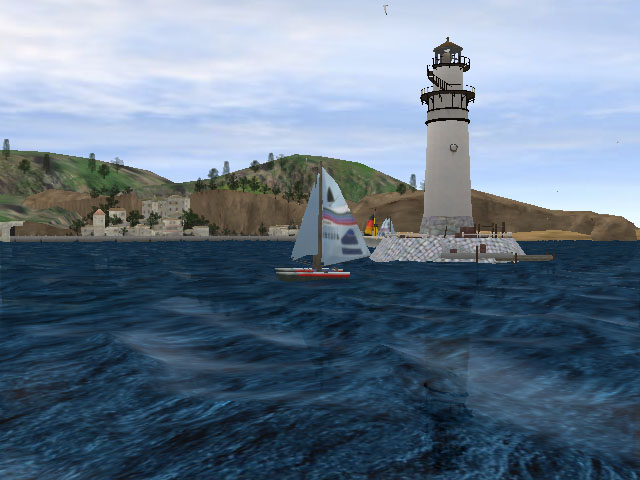 Screensaver 3D   Sea Screensaver Download   Lighthouse Screensaver 3D 640x480
