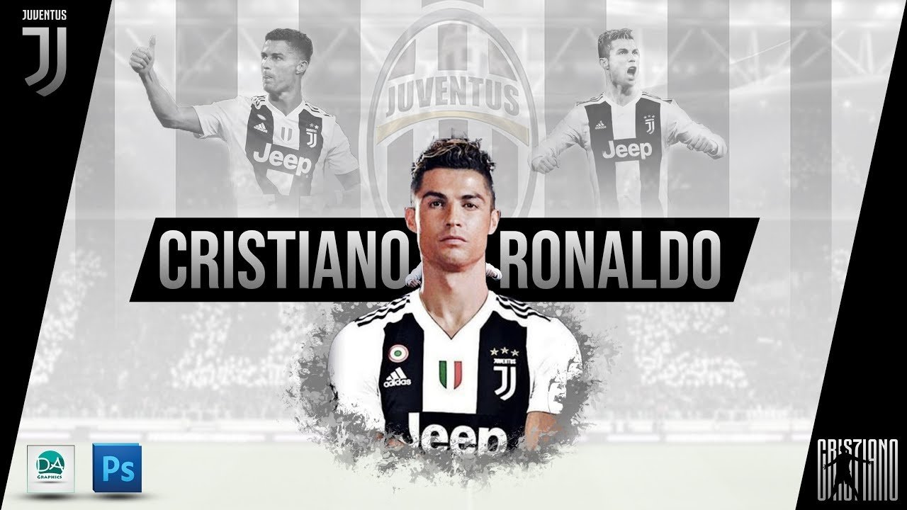Cristiano Ronaldo Juventus Wallpaper in Photoshop   Photoshop 1280x720