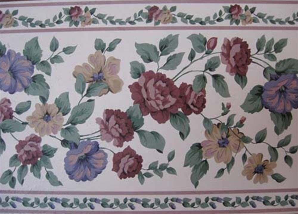 Closeout Flower Wallpaper Border 57819552   Borders 1000x718