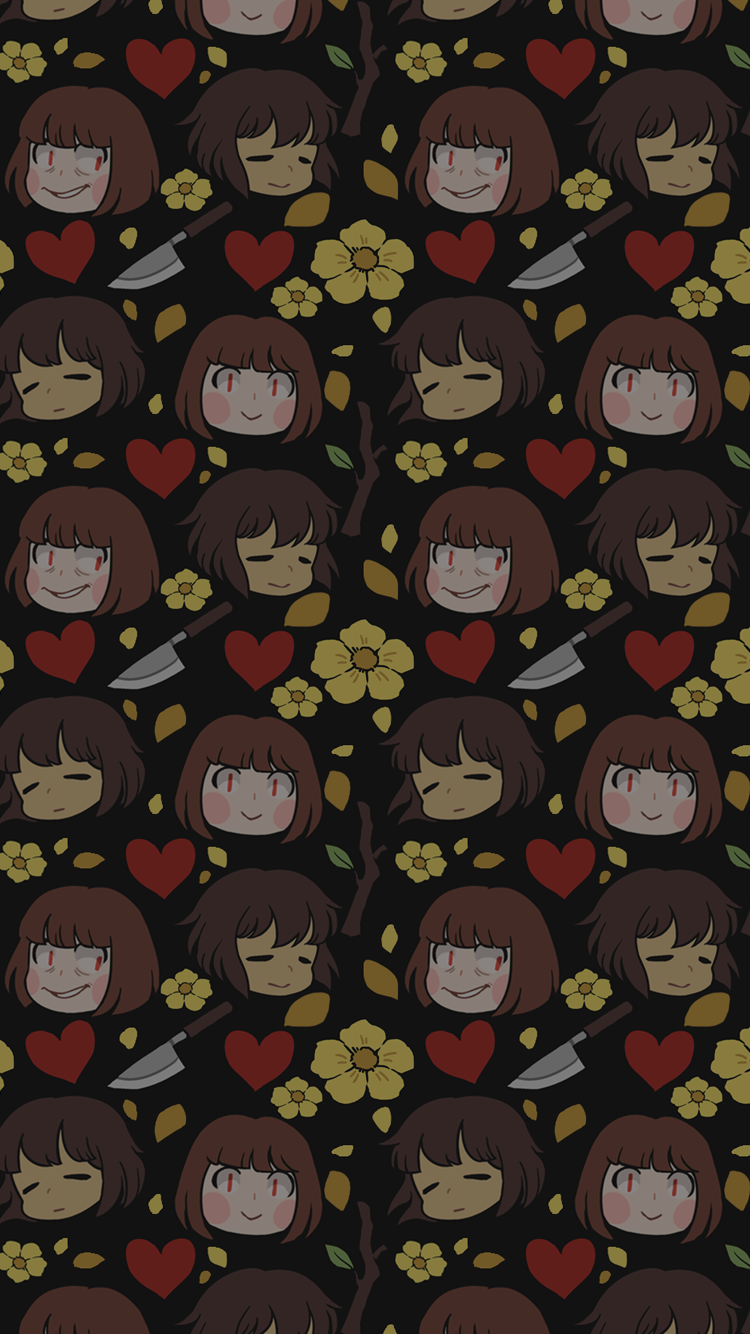 Phone Background version [The Human] [Flowey The Flower] 750x1334