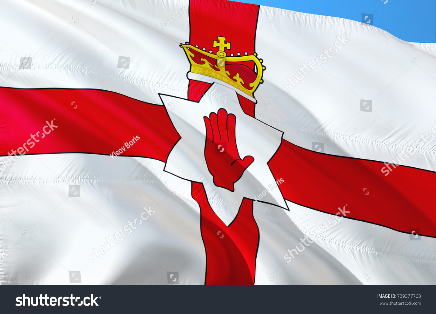 Northern Ireland Flag Flag Northern Ireland Stock Illustration 1500x1081